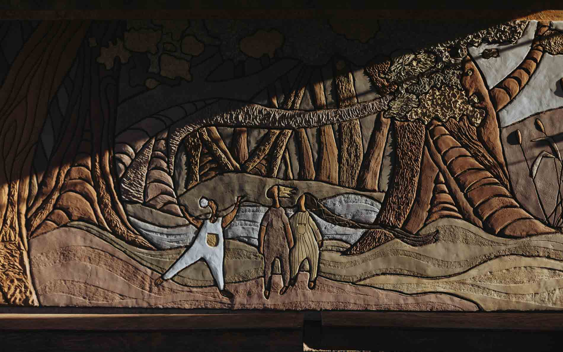 Mural de tierra - Especio Arquiteria